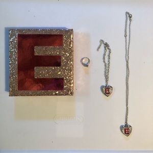 Justice Girls Letter E Jewelry Set